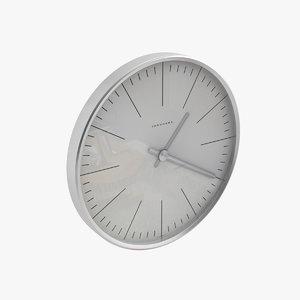 bill wall clock 3d max