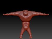 3d orc brute character model