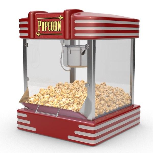 c4d popcorn machine