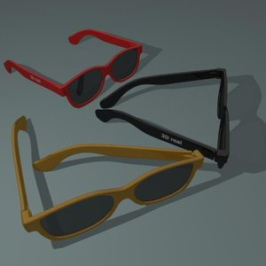 glasses modeled 3d model