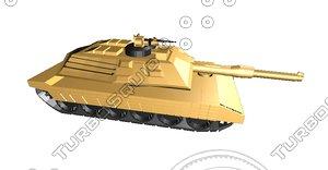 3d model m1a1 tank