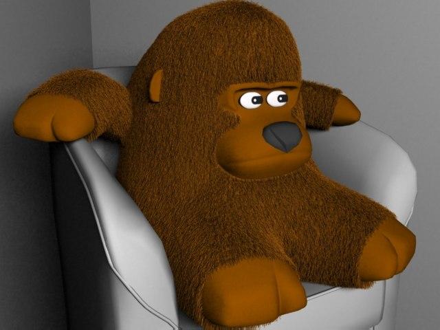 stuffed monkey 3d model