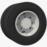 c4d trailer rear wheel axle