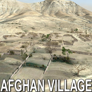 3d model afghan houses village afghanistan