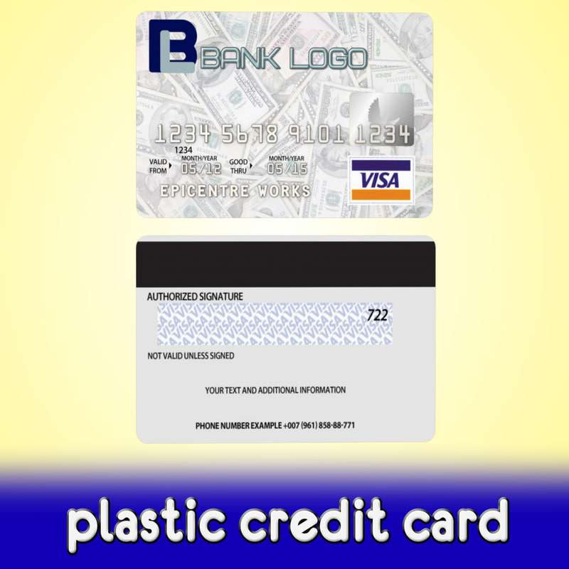 3d plastic credit card