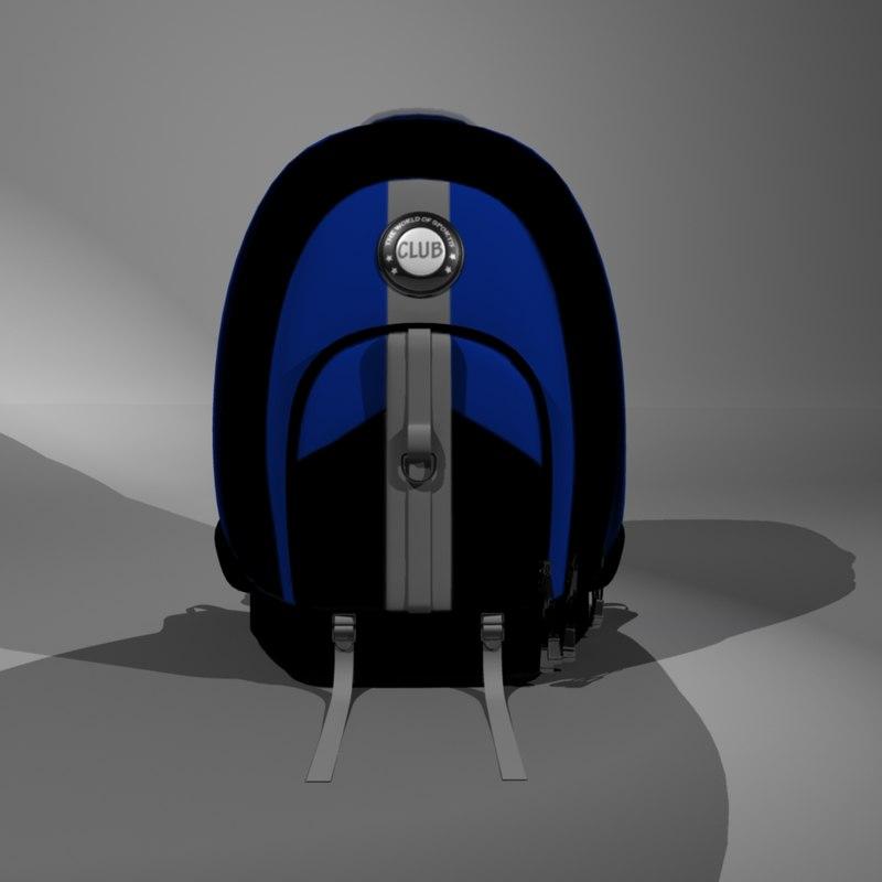 sport bag 3d model