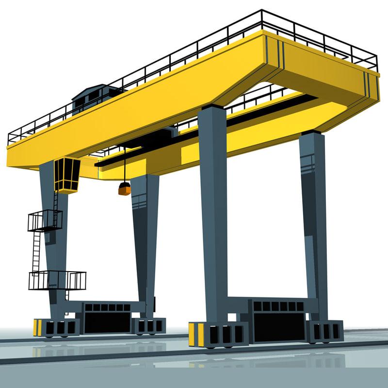 cranes machine 3d model