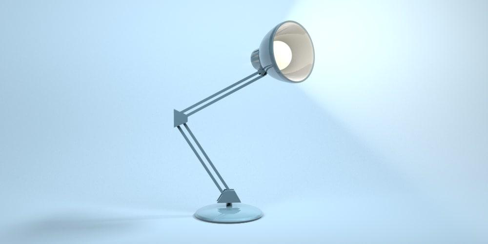 cinema4d blue desk lamp