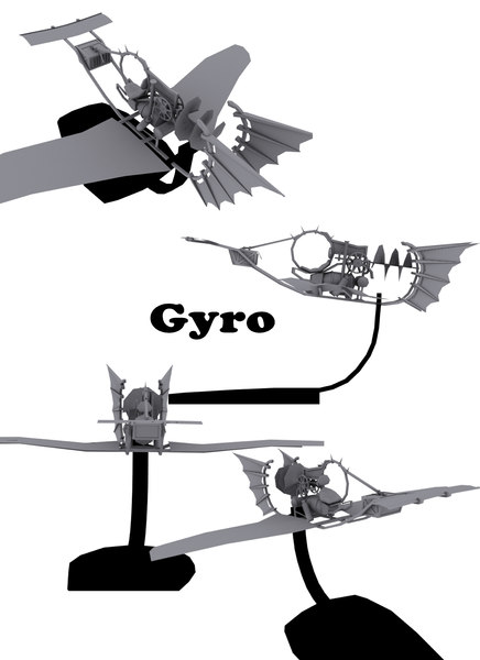 gyro flying machine 3d model