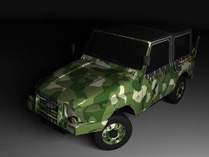 3d military jeep korando