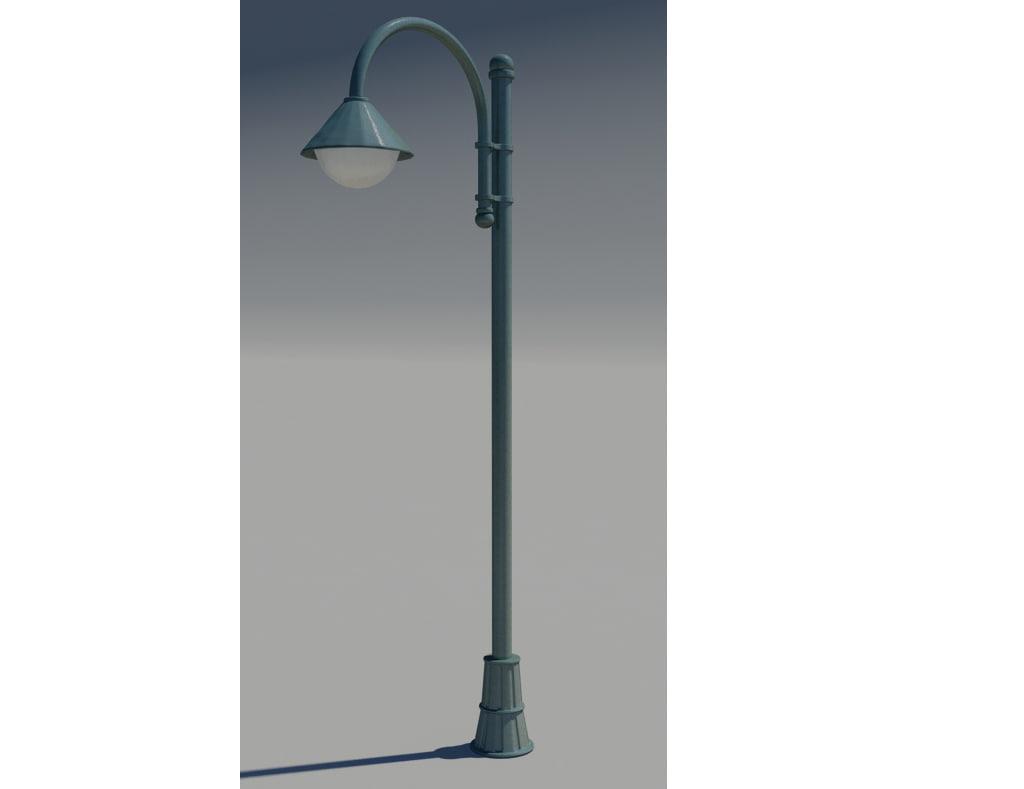 3d model park lamp
