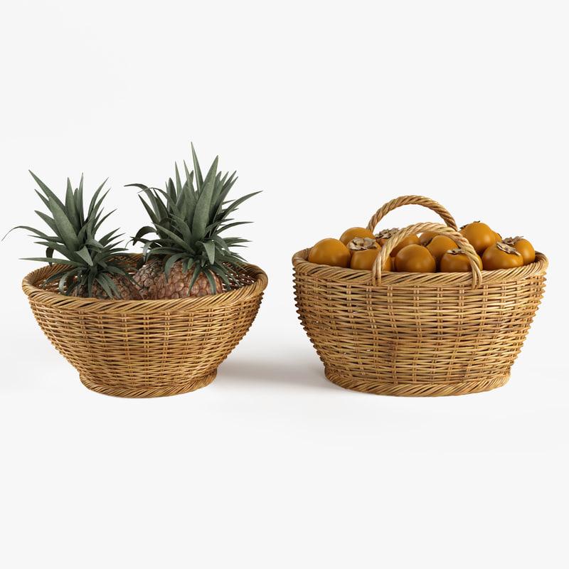 fruits basket 3d max