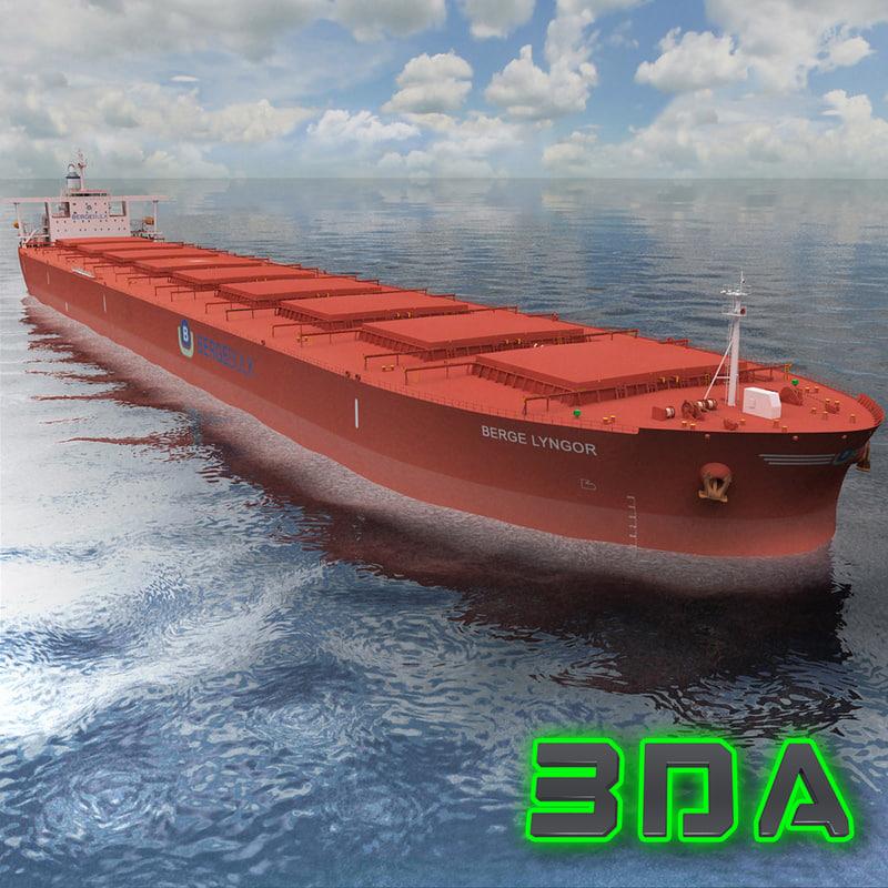 bulk carrier ship cargo 3d max