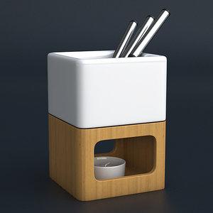 3d fondue set