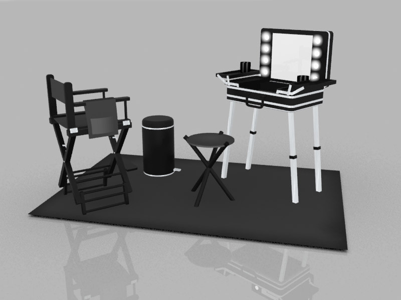 3d model makeup stand