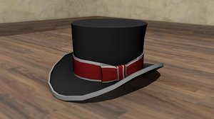 3d model of stovepipe hat