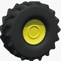 3d tractor tire rim