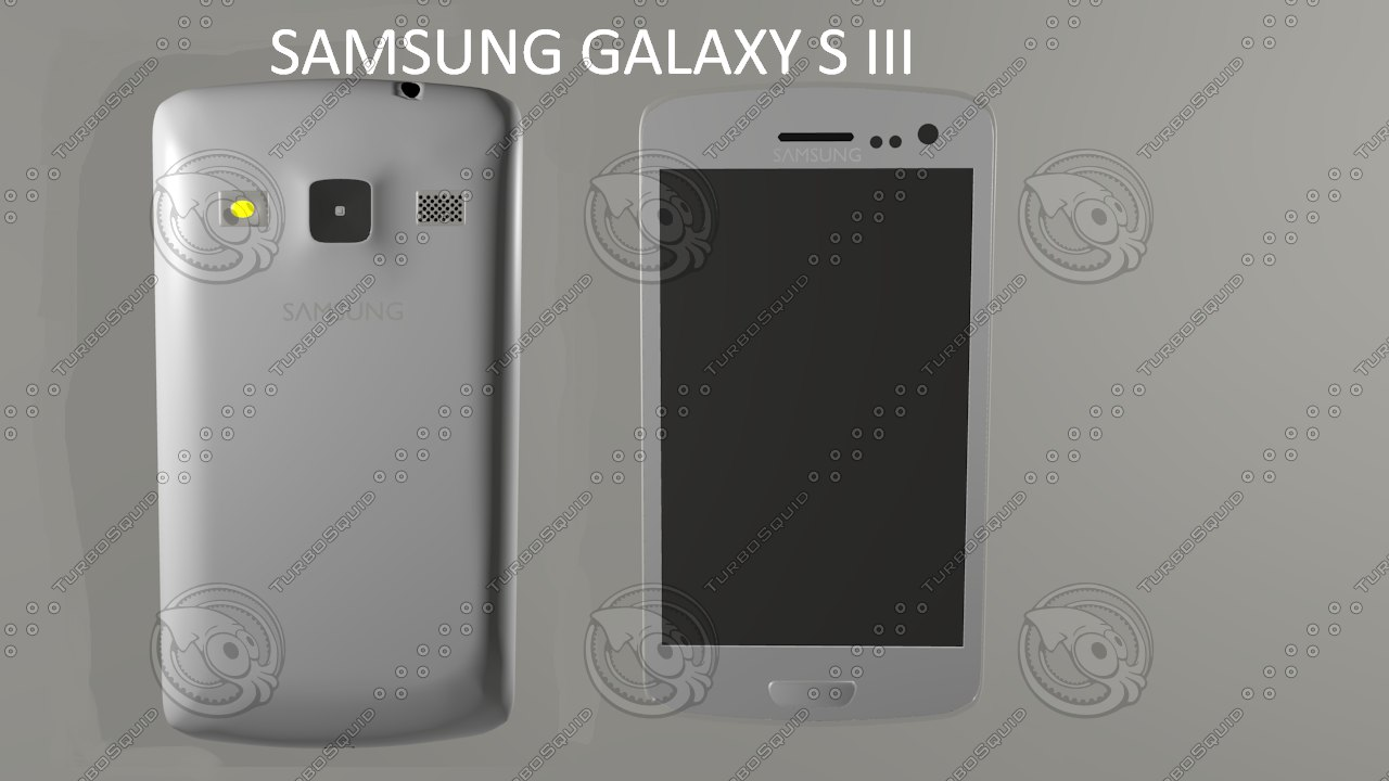 samsung galaxy s iii 3d obj