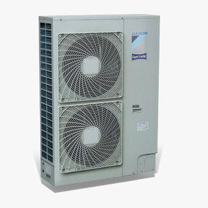 twin extractor fan unit 3d model