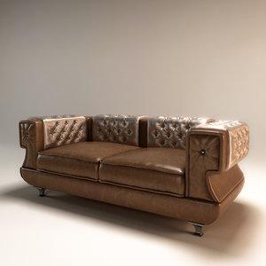 3d model sofa desiderio bastex