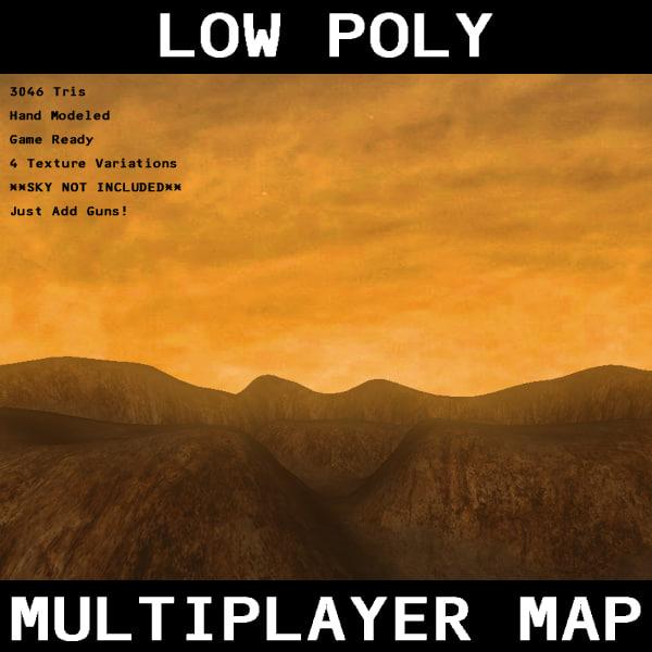 free multiplayer terrain 3d model