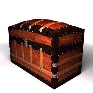3d model antique trunk