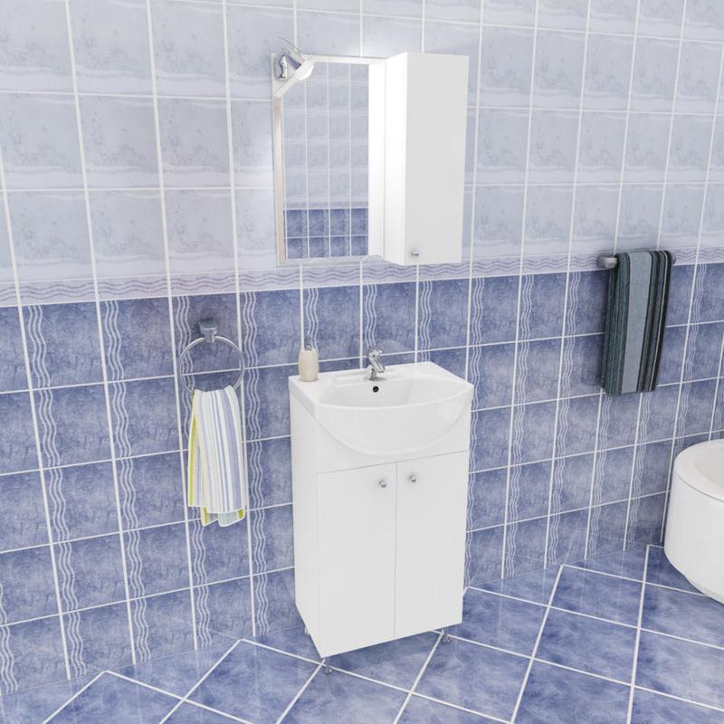 3d se bathroom set