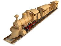 Wooden train composition