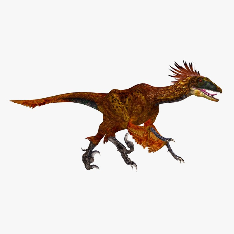 deinonychus antirrhopus feathered dinosaur c4d