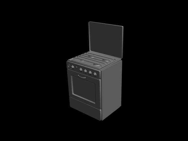 3d model of gas-cooker