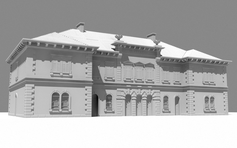3ds max historic building