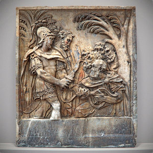 3d old relief