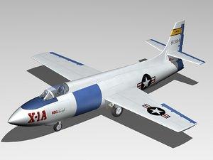 3ds bell x-1a x-1 aircraft