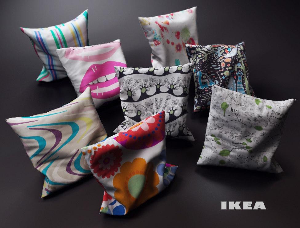 pillows ikea 3d model