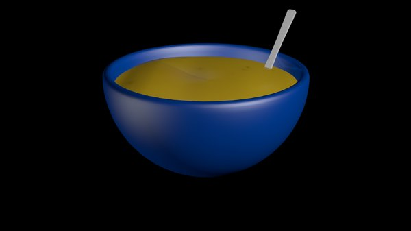 bowl soup 3d model