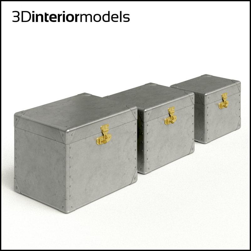 3d model aluminum boxes