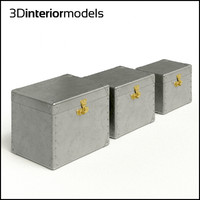 3d model aluminum boxes