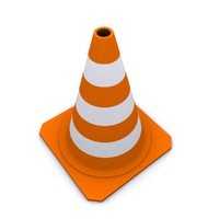 cone traffic 2010 3d model