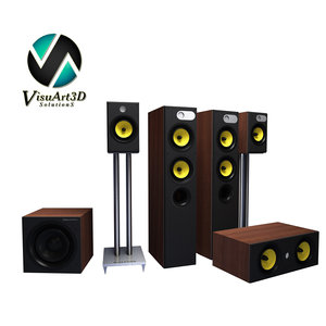 3d model 684 theatre speaker