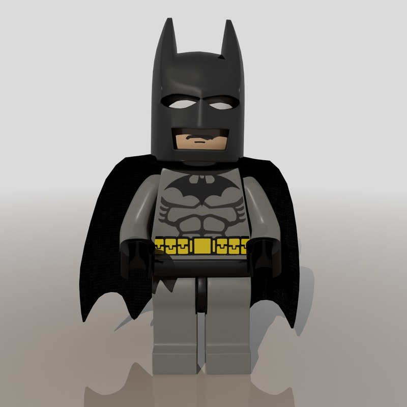 lego figure batman 3d max