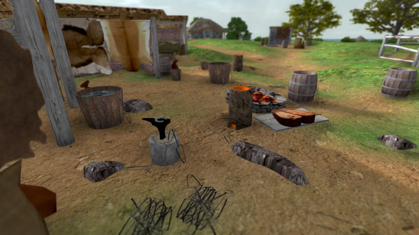 early medieval blacksmith 3d model