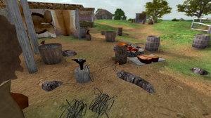 early medieval blacksmith 3d model