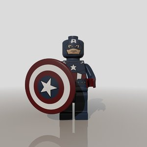 3ds max captain america lego