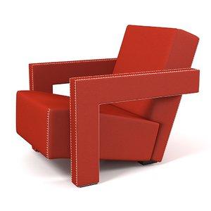 3d cassina utrecht armchair