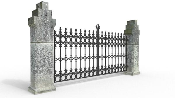 church gate 3d fbx