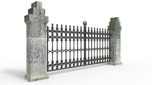 church gate 3d fbx
