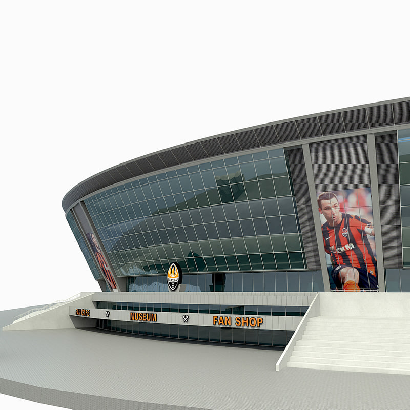 donbass arena stadium 3d model