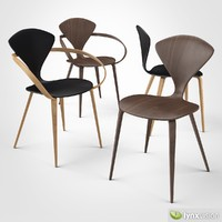 3d model plywood armchair cherner