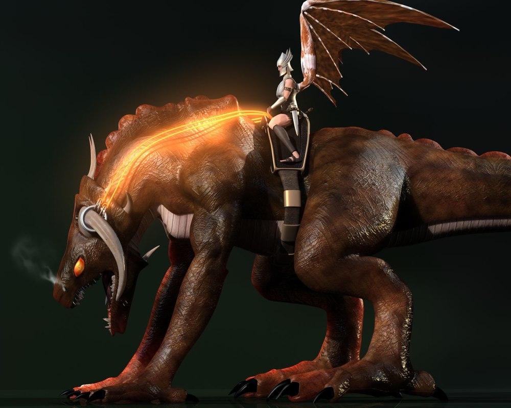 land dragon 3d model