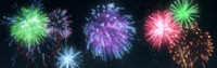 free fireworks particle flow 3d model